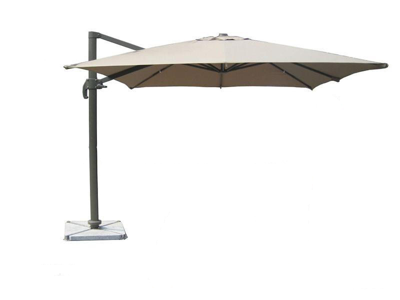 White Offset Patio Umbrellas