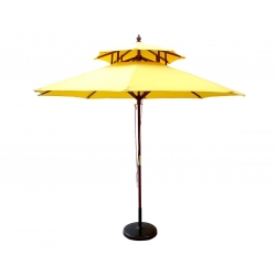 Charming Lighted Patio Umbrellas