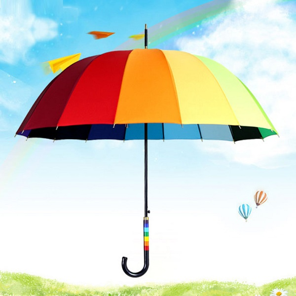 Colorful Rainbow Stick Umbrellas