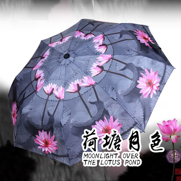 Lotus Flower Compact Umbrellas