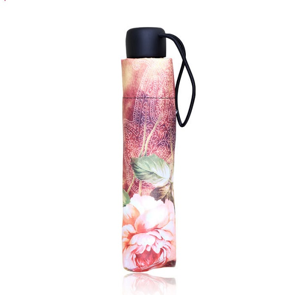 Rich Flowers Printed Compact Umbrellas