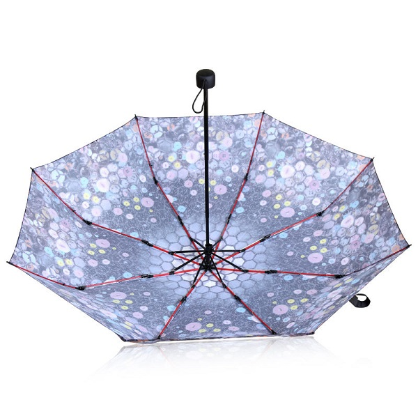 Beautiful Button Printed Compact Umbrellas