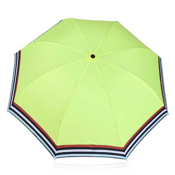 Compact Umbrellas with Colorful Stripe Edge