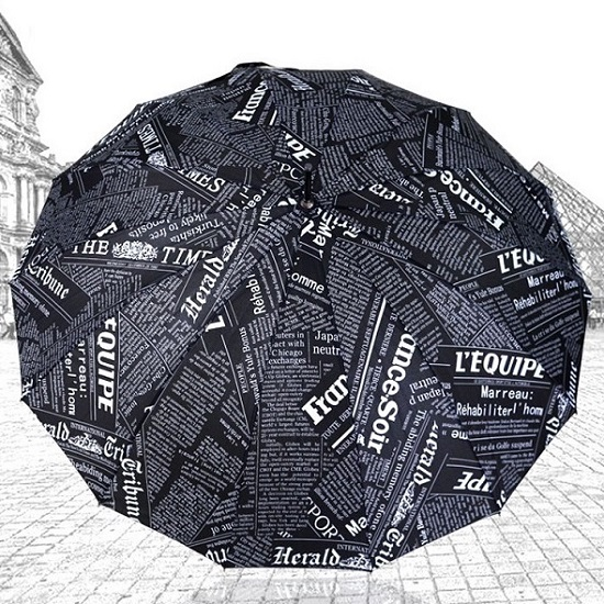 Newspaper Design Stick Umbrellas