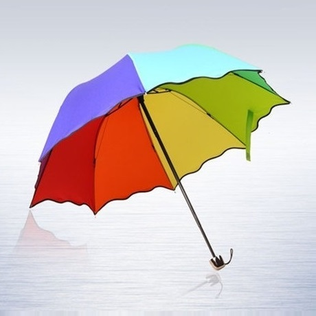 Colorful Rainbow Compact Umbrellas