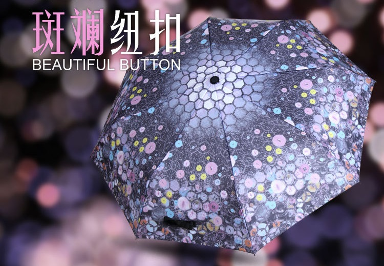 Beautiful Button Printed Compact Umbrellas I