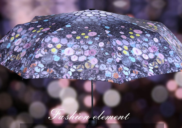 Beautiful Button Printed Compact Umbrellas II