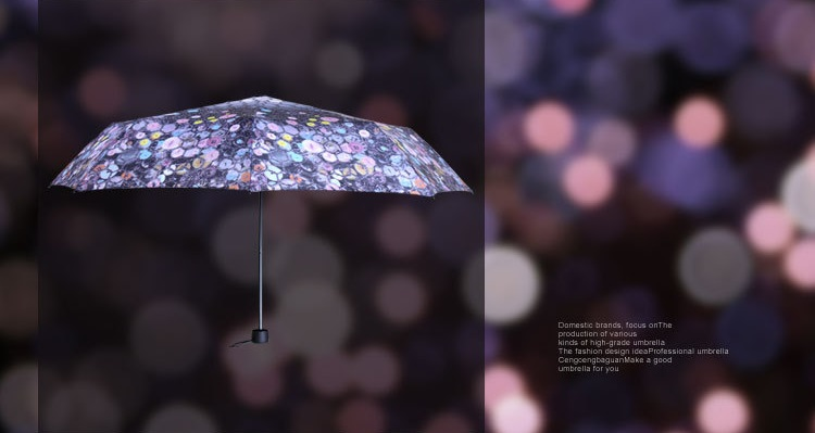 Beautiful Button Printed Compact Umbrellas III