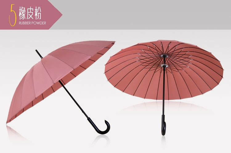 Wooden Stick Umbrellas with Crooked Handle XIV
