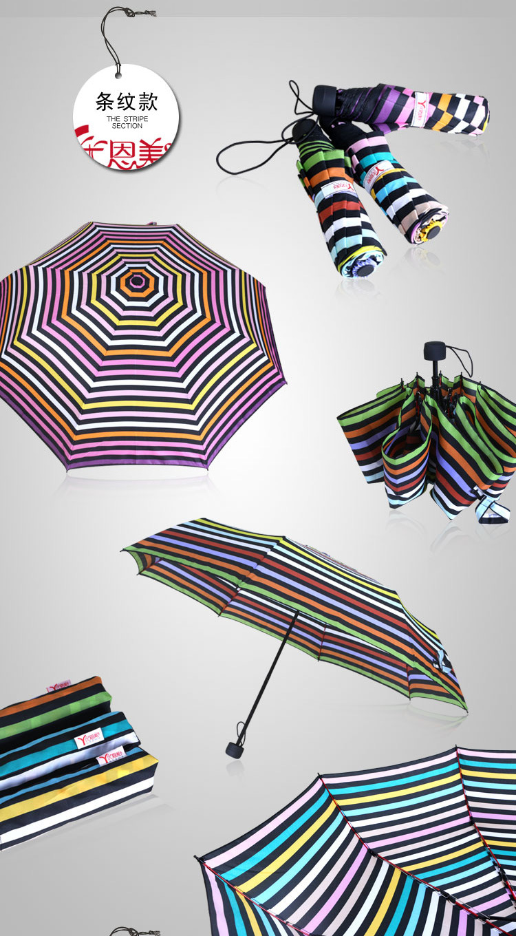 Sweet Heart Compact Umbrellas VI