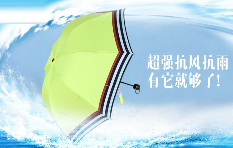 Compact Umbrellas with Colorful Stripe Edge II