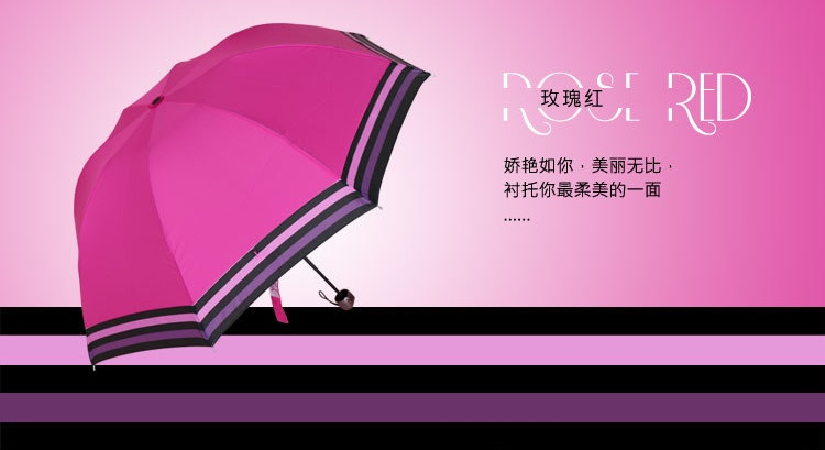 Compact Umbrellas with Colorful Stripe Edge VII