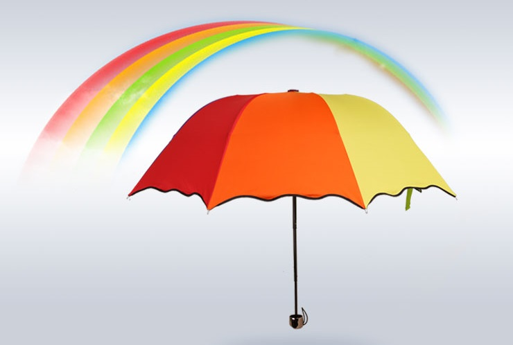 Colorful Rainbow Compact Umbrellas IV